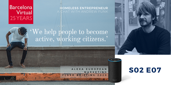 """We help people to become active, working citizens."" · Andrew Funk. founder of Homeless Entrepreneur"