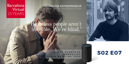 """Homeless people aren't invisible. We're blind."" - Andrew Funk. founder of Homeless Entrepreneur"