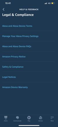 Alexa - Amazon Legal & Compliance Links