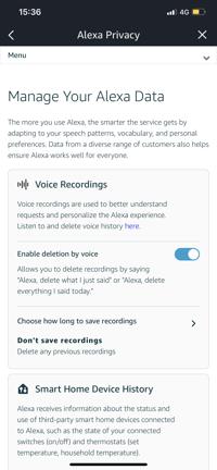 Alexa - How to Delete Your Voice Recordings