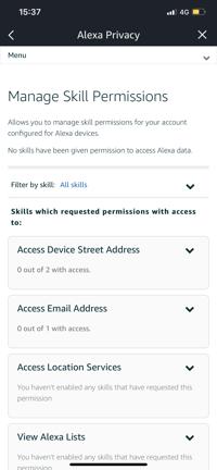 Alexa - How to Manage Skills Permissions
