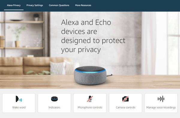 Go to the Alexa Privacy Hub