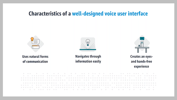 VUI - Characteristics of a well-designed voice user interface - Source: Amazon