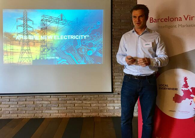 "Alexei Kounine in Barcelona: ""AI is the New Electricity""."