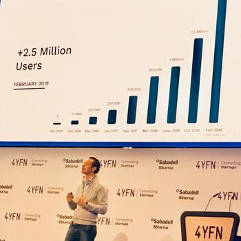 Photo: #4YFN19 Maximilian Tayenthal, founder of N26, talks about the mobile-first bank's rapid growth