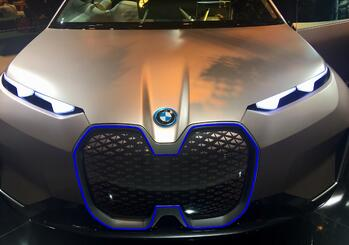 Photo: #MWC19 - An electric concept car at the BMW stand in Barcelona, February 2019