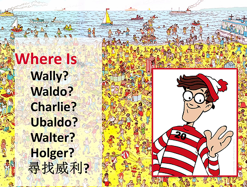 "Finding your most profitable customer is often just like ""Looking for Waldo"". Copyright Martin Handford."