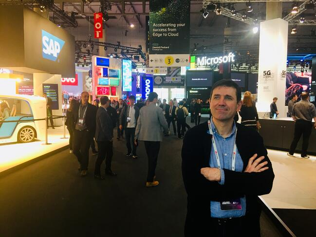 Josep Torra, CEO of Barcelona Virtual, at #MWC19 in Barcelona