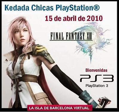 Barcelona Virtual - PS3 Ad in Second Life