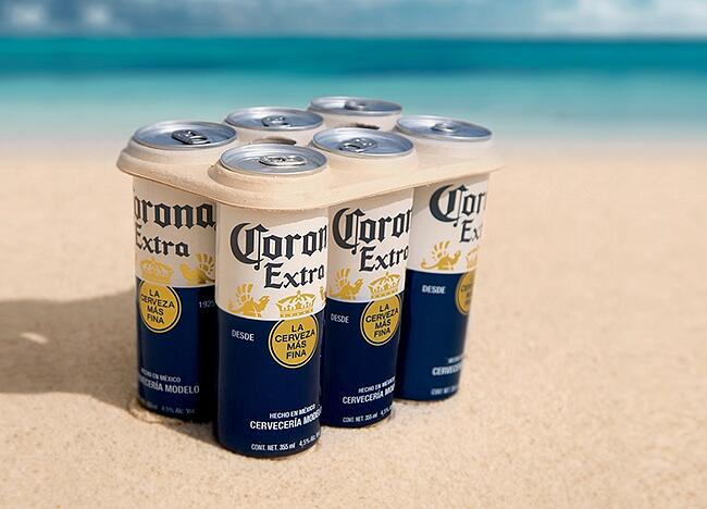 Mexico's Corona Beer: Sustainability Innovator. These 6-pack rings can be eaten by fish.
