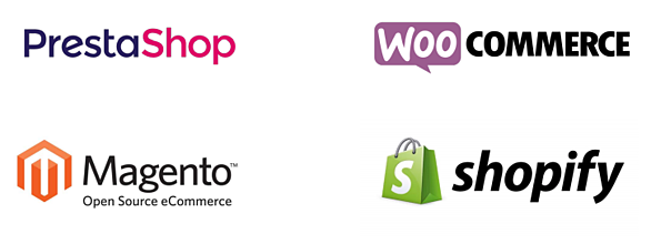 Four e-Commerce Platforms: Woo Commerce, PrestaShop, Shopify and Magento.