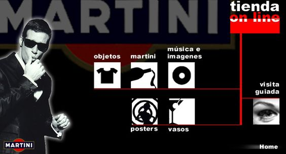 The pioneering (and award-winning) e-Commerce Store for the Martini Man, developed by Barcelona Virtual in 1999.