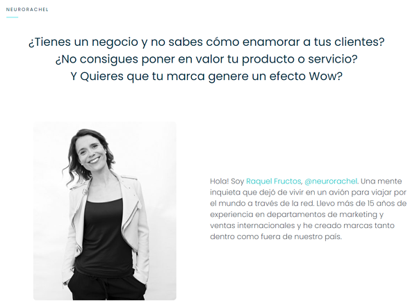 Raquel Fructos, founder of the European Neuromarketing agency, The Smart Bubble