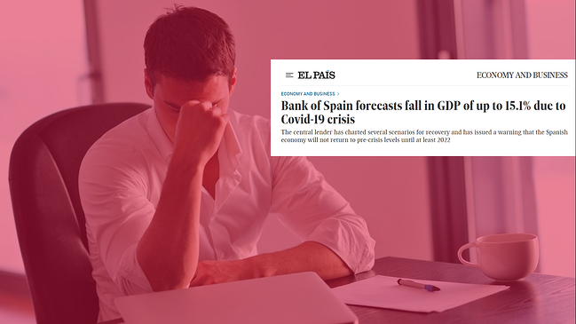 The Bank of Spain's worst scenario calls for a GDP drop of 15.1% - 08.06.20