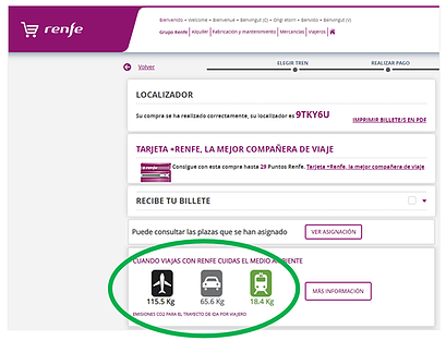 Renfe Spanish Railways shows the sustainability of train travel.