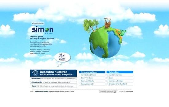 [2009] Simon Blue Planet - Barcelona Virtual ha creado el nuevo microsite medioambiental Simon Blue Planet