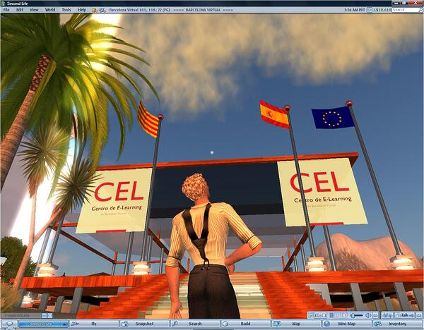 The CEL - The Barcelona Virtual Center for E-Learning in Second Life