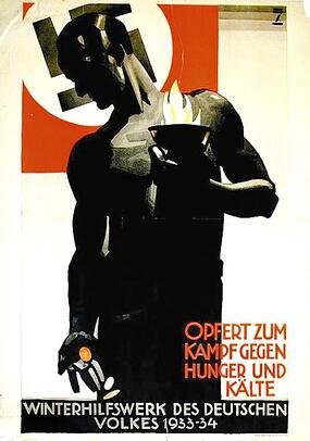 Nazi Winter Relief Fund poster, 1933-1934 by Ludwig Hohlwein