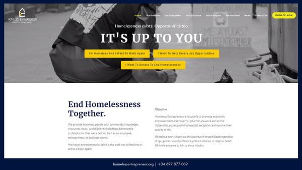 Website of Homeless Entrepreneur